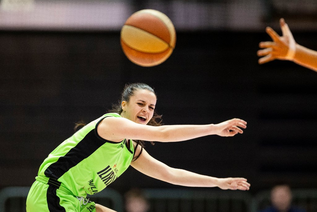 in action during women basketball match between ZKK Cinkarna Celje and Ilirija, semi-final cup 2019, played in Dvorana Tabor, Maribor, Slovenia on March 10, 2019